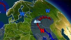 Ciepły niż nadciąga znad Ukrainy