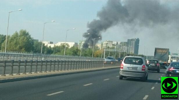 Pożar przy Gwiaździstej Łukasz / Kontakt 24