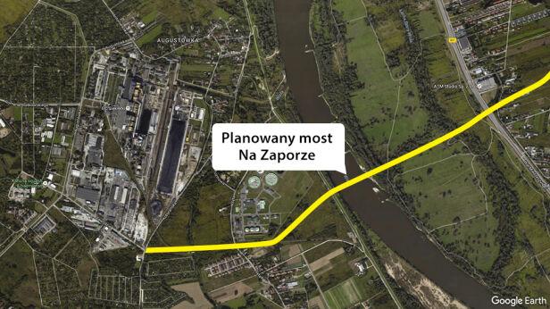 Tu mają powstać nowe most i trasa Google Earth