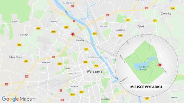 W tym miejscu doszło do wypadku googlemaps.pl/tvn24.pl