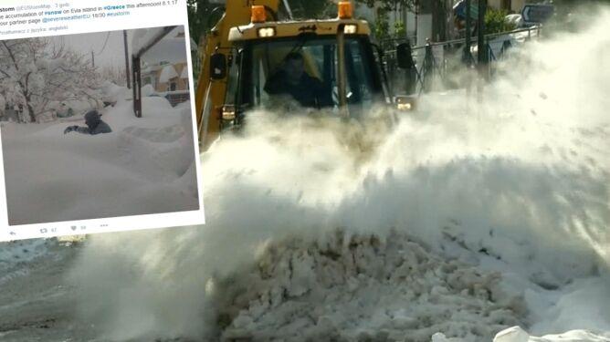 Śnieg i -19 st. C. Tak jest w Grecji