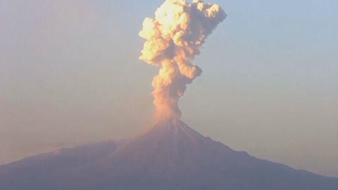 Wulkan Colima znów postraszył. Zobacz film
