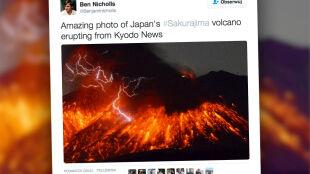 W Japonii wybuchł wulkan. Znajduje się 50 km od elektrowni atomowej